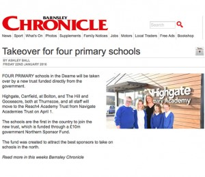 Takeover for four primary schools