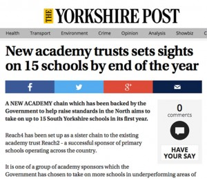 New academy trust sets sights on 15 schools by the end of the year