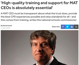 High-quality training and support for MAT CEOs is absolutely essential