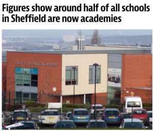 Figures show around half of all schools in Sheffield are now academies